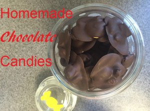 homemade chocolate candies text graphic