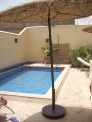 The rooftop pool at our Marrakech riad