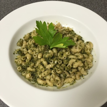 Delicious with homemade pesto!